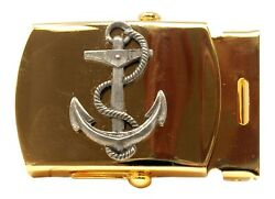 Nautical Anchor Brass Buckle Military Style 1 1 4quot; wide $16.99