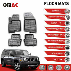 Floor Mats Liner 3D Molded Black Set Fits Jeep Patriot 2011 2016 $59.42
