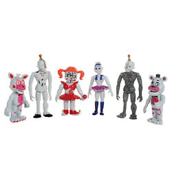 6 PCS Five Nights At Freddy#x27;s FNAF Sister location Action Figures Doll Toys Gift $11.99
