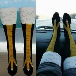 Fitness Knee Legs 40cm Socks Novelty High Mens 3D Womens Chicken Animal Cartoon $4.25