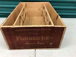 Wine Box Case Wooden Crate 12750ml French Chateau Fombrauge Bordeaux