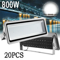 20X 800W LED Flood Lights Cool White Bright Outdoor Lighting Path Fixtures Lamp