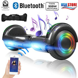 Electric Hoverboard Bluetooth Speaker LED Flash with Bag Smart Scooter 6.5