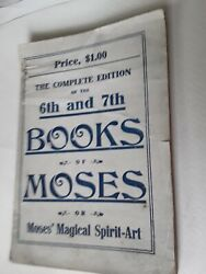 ANTIQUE ORIGINAL Vintage  6th and 7th Books of Moses Magical Spirit Art OCCULT