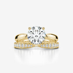 2.2 CARAT BAND DIAMOND RING 14K YELLOW GOLD SI1 ENGAGEMENT SIZE 5.5 6.5 7.5