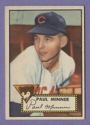 1952 Topps #127 Minner in Ex-ExMt condition