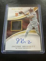 Jacoby Brissett 2016 Immaculate Collection RC Patch On Card Autograph 4999