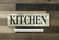 farmhouse sign KITCHEN rustic welcome home decor 8x3quot; $14.99