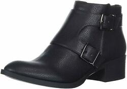 Kenneth Cole Reaction Womens Buckle Closed Toe Ankle Fashion Black Size 10.0 s