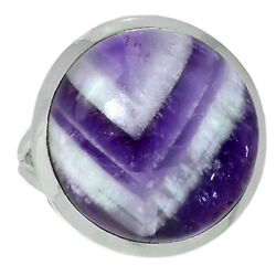 Chevron Amethyst Lace 925 Sterling Silver Ring Jewelry s.8.5 AR129226