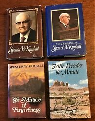 4 Books By or About SPENCER W. KIMBALL ~ Biography & Teachings ~ Mormon LDS