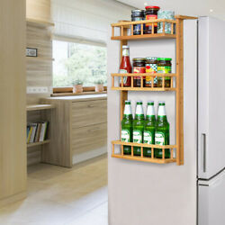 Kitchen Rack Wooden Refrigerator Storage Heavy Duty Fridge Organizer Shelf US