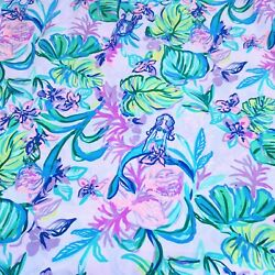 Mermaid in the Shade ~ Lilly P Poplin Cotton Fabric ~ 1 yard