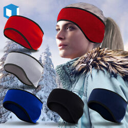Mens Womens Headband Earwarmer Ear Muffs Polar Fleece Winter Hat Ski Snowboard