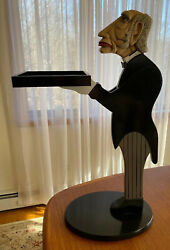 Vintage Bombay Company JAMES THE BUTLER Serving Tray Smoke Stand Butler Table