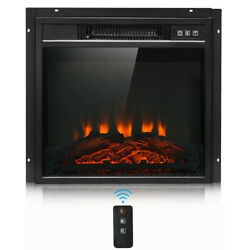 18quot; Wall Electric Fireplace Insert Log Flame Effect Remote Control Warm Heaters $178.94