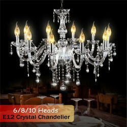 Elegant Crystal Chandelier Modern 6810 Pendant Ceiling Light Lamp Fixture