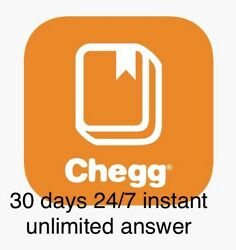 30 Days Chegg Study Premium Unlimited Instant Answer.(Not A Shared Account)