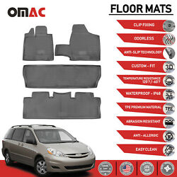 Floor Mats Liner 3D Molded Gray Set 4 Pieces for Toyota Sienna 2004 2010 $79.90