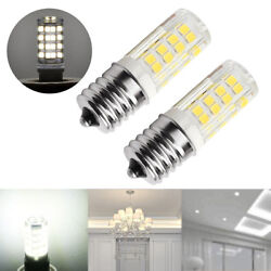 Pair Microwave LED Replacement Light Bulb for Appliance E17 Socket 4W Oven Bulbs $7.66