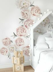 Peony Flower Wall Stickers LARGE set $164.00