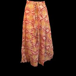 Liberty House Hawaiian Hippie Batik Wrap Skirt Beach Boho Festival M Vintage $59.00