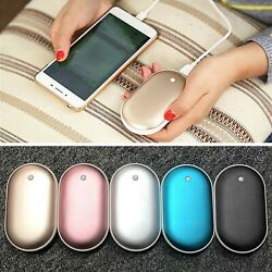 Rechargeable Hand Warmer Heater 5200mAh Mini USB Charger Power Bank Cobblestone