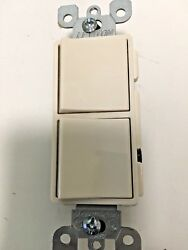 Leviton LIGHT ALMOND Combination Two Switches No.5224
