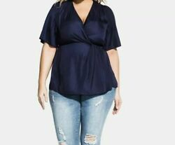 city chic Trendy Plus Size Twist Front Top 14 $19.99
