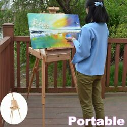 Portable Easel Wooden Sketch Box Folding Beech Art Artist Display Tripod Stand