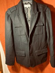 Calvin Klein Men's Black Wool Coat SZ Med Lined NEW Dang Nice Warm Over Coat