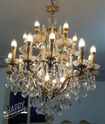 antique french crystal chandelier 22 light 18 arms e14 base