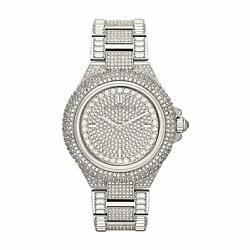 MICHAEL KORS MK5869 Camille Silver-Tone Crystal Pave Glitz Dial Ladies Watch $154.50