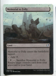 Memorial to Folly ALTERED ART  MTG Magic Hand Painted Commander EDH
