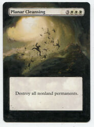 Planar Cleansing ALTERED ART  MTG Magic Hand Painted Commander EDH