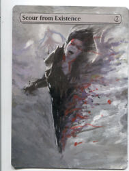 Scour from Existinence ALTERED ART  MTG Magic Hand Painted Commander EDH