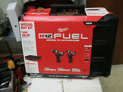 NEW Milwaukee 2598-22PO M12 FUEL 2-Tool Combo Kit w PACKOUT Case