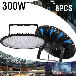8X 300W UFO LED High Bay Light Factory Warehouse Industrial Commercial Work Lamp $567.99