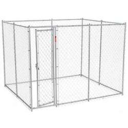 Lucky Dog 10x5x6 Heavy Duty Outdoor Chain Link Dog Kennel Enclosure Open Box $256.99