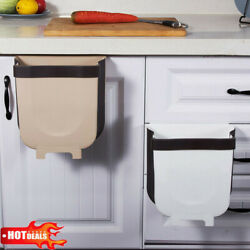 Creative Wall Mounted Folding Waste Bin Kitchen Bin Rubbish Container Box lot US $6.52