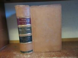 Old COMMERCIAL RELATIONS Leather Book FOREIGN TRADE INDUSTRY MANUFACTURING WORLD