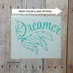 Dreamer Dreamcatcher Car Decal Sticker Feather Boho For Hydroflask Yeti Tumble $2.75