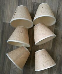 6 Candle Lamp CHANDELIER Shades Clip on Bulb Wrinkly PAPER Can Be Decorated $32.00