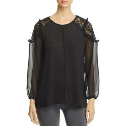 Avec Womens Lace Long Sleeves Office Blouse Top BHFO 6883 $3.64