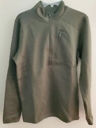 Pullover Under Armour Mens UA Zip Top Size Small Olive Green New $53.99