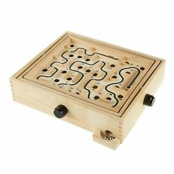 Labyrinth Wooden Maze Game with 2 Marbles Puzzle Game for Family Fun $17.99