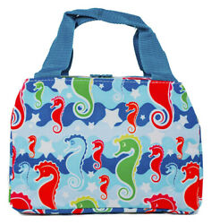Sea Horse Thermal Insulated Lunch Box Cooler Bag Cute Teens Girls Tote Small $14.99