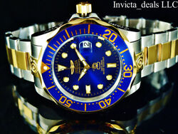 Invicta Men#x27;s 47mm GRAND DIVER Automatic Blue Dial Gold Plated Two Tone SS Watch $99.89