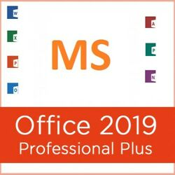 MS Office Pro Plus 2019 - Genuine 1 PC Install w Install Disk (SEE FEEDBACK!) $39.99