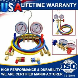 Refrigeration Air Conditioning AC Diagnostic Manifold Gauges R134a R502a R22 R12 $33.95